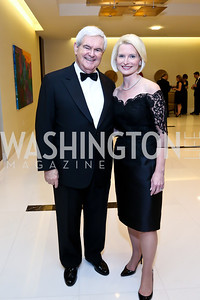 Newt and Callista Gingrich. Photo by Tony Powell. 2014 Radio and Television Correspondents Association Dinner. Marriott Marquis. June 12, 2014