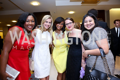 Bria Cousins, Amy Simpson, Karen James, Caroline Behringer, Stephanie Ma. Photo by Tony Powell. 2014 Radio and Television Correspondents Association Dinner. Marriott Marquis. June 12, 2014