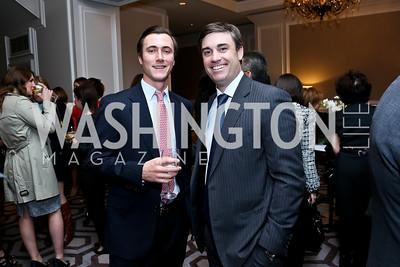 Drew Adams, Derrick Preuss. Photo by Tony Powell. 2014 Great Ladies Luncheon and Fashion Show. Ritz Carlton. April 1, 2014