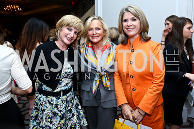 Tina Alster, Deborah Sigmund, Kathleen Matthews. Photo by Tony Powell. 2014 Great Ladies Luncheon and Fashion Show. Ritz Carlton. April 1, 2014