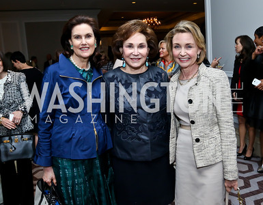 Alexandra de Borchgrave, Alma Gildenhorn, Megan Beyer. Photo by Tony Powell. 2014 Great Ladies Luncheon and Fashion Show. Ritz Carlton. April 1, 2014