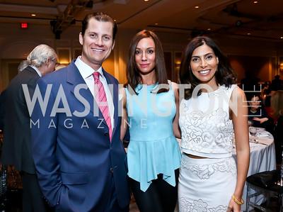 John Cecchi and Kristin Rae Cecchi, Samar Langhorne. Photo by Tony Powell. 2014 Great Ladies Luncheon and Fashion Show. Ritz Carlton. April 1, 2014