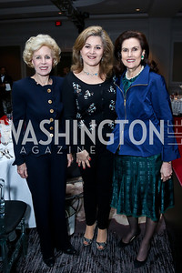 Ann Nitze, Nicole Chedid, Alexandra de Borchgrave. Photo by Tony Powell. 2014 Great Ladies Luncheon and Fashion Show. Ritz Carlton. April 1, 2014
