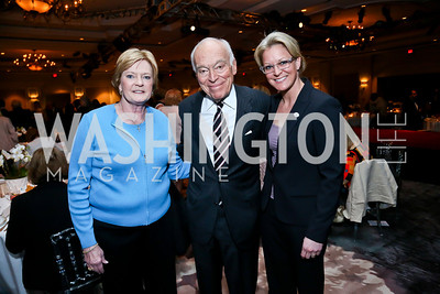 Honoree Coach Pat Summitt, Leonard Lauder, Michelle Marciniak. Photo by Tony Powell. 2014 Great Ladies Luncheon and Fashion Show. Ritz Carlton. April 1, 2014