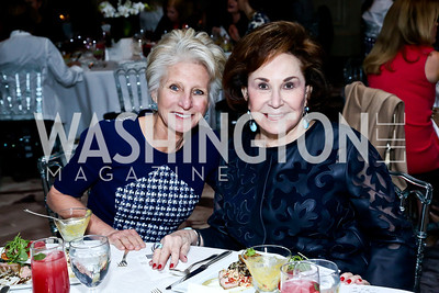 Jane Harman, Alma Gildenhorn. Photo by Tony Powell. 2014 Great Ladies Luncheon and Fashion Show. Ritz Carlton. April 1, 2014