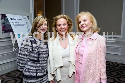 Beth Glassman, Diana Kogan, Evelyn Brandt. Photo by Tony Powell. 2014 Great Ladies Luncheon and Fashion Show. Ritz Carlton. April 1, 2014