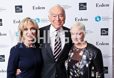 Andrea Mitchell, Leonard Lauder, Elise Lefkowitz. Photo by Tony Powell. 2014 Great Ladies Luncheon and Fashion Show. Ritz Carlton. April 1, 2014