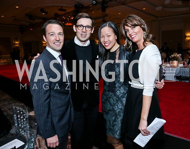 Saks SVP John Antonini, Erdem, Sarah Tam, Kerri Larkin. Photo by Tony Powell. 2014 Great Ladies Luncheon and Fashion Show. Ritz Carlton. April 1, 2014