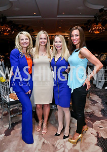 Jamie Dorros, Sharon Bradley, Cindy Jones, Kristin Rae Cecchi. Photo by Tony Powell. 2014 Great Ladies Luncheon and Fashion Show. Ritz Carlton. April 1, 2014