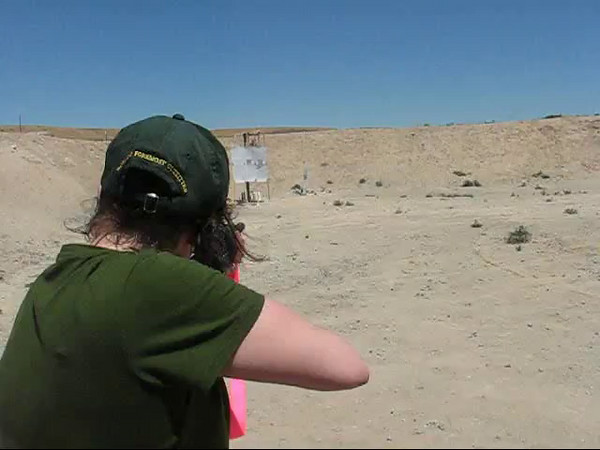 Regina Hardy shooting an AR-15