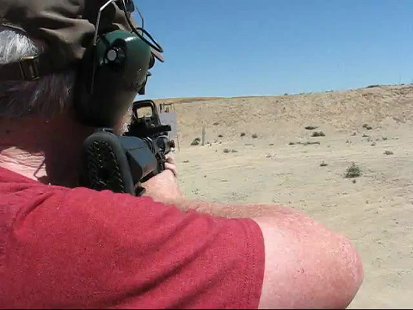 Ray Amoureux with an AR-15