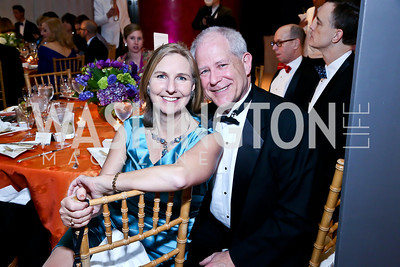 Ian and Caroline DeWaal. Photo by Tony Powell. Signature Theatre's Annual Sondheim Gala. Italian Embassy. April 7, 2014