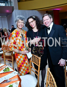 Susan Stamberg, Jessica Goldstein, Jeff Berger. Photo by Tony Powell. Signature Theatre's Annual Sondheim Gala. Italian Embassy. April 7, 2014
