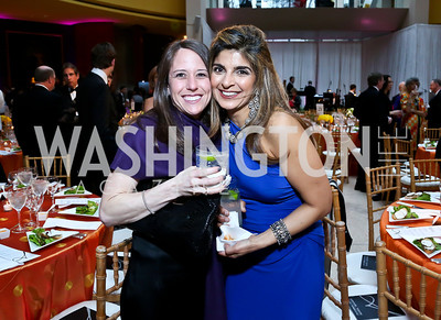 Allison Robinson, Aisha Masood. Photo by Tony Powell. Signature Theatre's Annual Sondheim Gala. Italian Embassy. April 7, 2014