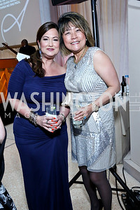 Sara Jaffe, Michelle Lee. Photo by Tony Powell. Signature Theatre's Annual Sondheim Gala. Italian Embassy. April 7, 2014