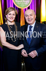 Nicole Chedid and Lebanese Amb. Antoine Chedid. Photo by Tony Powell. 2014 St. Jude's Gourmet Gala. Building Museum. February 25, 2014