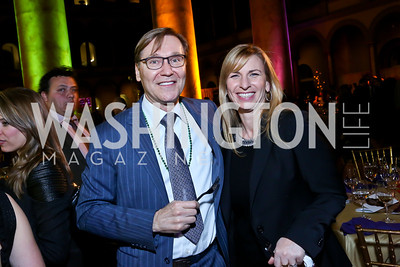 Dr. Michael Olding, Sally Sagarese. Photo by Tony Powell. 2014 St. Jude's Gourmet Gala. Building Museum. February 25, 2014