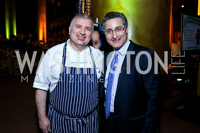 Chef Chair Maziar Farivar and brother Shahab Farivar. Photo by Tony Powell. 2014 St. Jude's Gourmet Gala. Building Museum. February 25, 2014