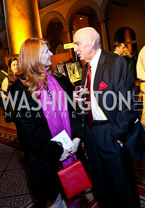 Leslie Bachman, Herb Morgan. Photo by Tony Powell. 2014 St. Jude's Gourmet Gala. Building Museum. February 25, 2014