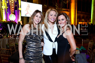 Fran McFadyen, Andrea Rinaldi, Jen Harlow. Photo by Tony Powell. 2014 St. Jude's Gourmet Gala. Building Museum. February 25, 2014