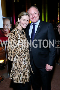 Annie and Mike Magruder. Photo by Tony Powell. 2014 St. Jude's Gourmet Gala. Building Museum. February 25, 2014