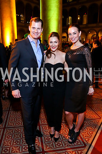 John Cecchi, Micky Farivar, Kristin Rae Cecchi. Photo by Tony Powell. 2014 St. Jude's Gourmet Gala. Building Museum. February 25, 2014