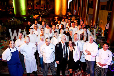 Gourmet Gala Chefs with St. Jude's CEO Richard Shadyac. Photo by Tony Powell. 2014 St. Jude's Gourmet Gala. Building Museum. February 25, 2014