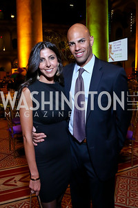 Reina Jabbour, Sherif Abdalla. Photo by Tony Powell. 2014 St. Jude's Gourmet Gala. Building Museum. February 25, 2014