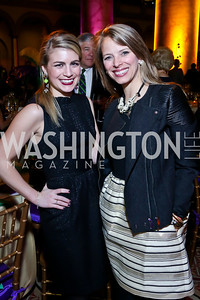 Courtney Jane Rosellini, Mary Hoernig. Photo by Tony Powell. 2014 St. Jude's Gourmet Gala. Building Museum. February 25, 2014