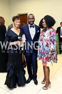 Wynette Williams, Wesley Thomas, Dana Warner. Photo by Tony Powell. 2014 Step Afrika Gala. Catholic University. May 29, 2014