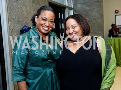 Kim Bassett, Dy Brown. Photo by Tony Powell. 2014 Step Afrika Gala. Catholic University. May 29, 2014