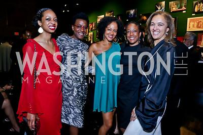 Lisa Kinnard, Beth Henson, Natasha Watkins, Kim Jones, Cristal Baron. Photo by Tony Powell. 2014 Step Afrika Gala. Catholic University. May 29, 2014