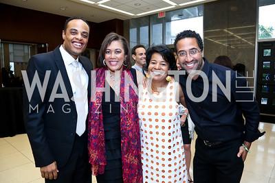 John Kelley, Regina Clay, Tracy Miller, Step Afrika Founder Brian Williams. Photo by Tony Powell. 2014 Step Afrika Gala. Catholic University. May 29, 2014