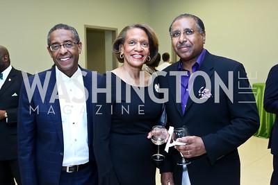 Jerome Paige, Elizabeth Cushenberry and Judge Harold Cushenberry. Photo by Tony Powell. 2014 Step Afrika Gala. Catholic University. May 29, 2014