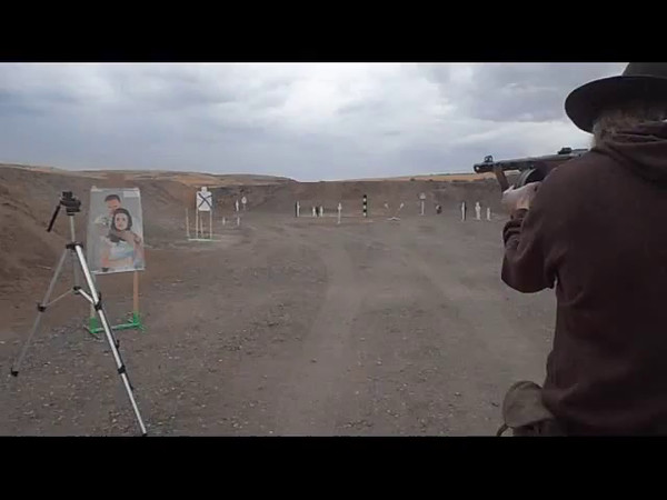 Shane Whitney, winner of the Classic Class, shooting a PPSH41 on Stage 3.