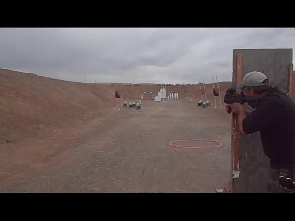 Jay Barnett, shooting a Mac 10, on Stage 2.