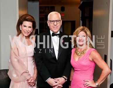 Nancy Brinker, David Rubenstein, Melissa Maxfield. Photo by Tony Powell. 2014 Susan G. Komen Honoring the Promise Gala. Kennedy Center. September 18, 2014