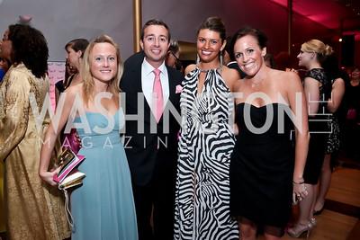 Tory Nolan, Nicholas Mikula, Elizabeth Rothenberger, Audrey Connors. Photo by Tony Powell. 2014 Susan G. Komen Honoring the Promise Gala. Kennedy Center. September 18, 2014