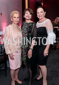 Wilma Bernstein, Marlene Malek, Grace Bender. Photo by Tony Powell. 2014 Susan G. Komen Honoring the Promise Gala. Kennedy Center. September 18, 2014