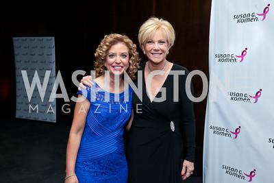 Rep. Debbie Wasserman Schultz, Joan Lunden. Photo by Tony Powell. 2014 Susan G. Komen Honoring the Promise Gala. Kennedy Center. September 18, 2014