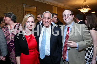 Cathy and Walter Isaacson, Teach for Americ CEO Matt Kramer. Photo by Tony Powell. 2014 Teach for America Gala. Omni Shoreham. March 13, 2014