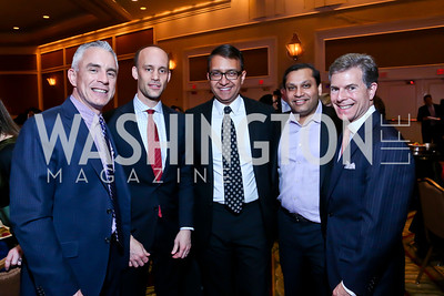 Paul Williams, Scott Schirmeier, Sanju Bansal, Reggie Aggarwal, Jeff Weiss. Photo by Tony Powell. 2014 Teach for America Gala. Omni Shoreham. March 13, 2014