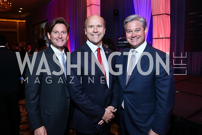 Joe Ruzzo, John Delaney, Mark Lowham. Photo by Tony Powell. 2014 Teach for America Gala. Omni Shoreham. March 13, 2014
