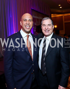 Sen. Corey Booker, Jim Abdo. Photo by Tony Powell. 2014 Teach for America Gala. Omni Shoreham. March 13, 2014