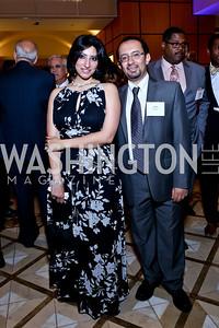 Dena Mikhaiel, Ramy Youssef. Photo by Tony Powell. 2014 Tim Russert Congressional Dinner. JW Marriott. May 22, 2014