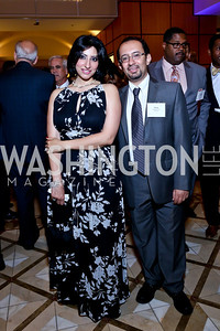 Dena Mikhaiel, Ramy Youssef. Photo by Tony Powell. 2014 Tim Russert Congressional Dinner. JW Marriott. May 22, 2014