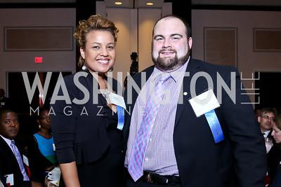 Keeyana Mahoney, Chad Merica. Photo by Tony Powell. 2014 Tim Russert Congressional Dinner. JW Marriott. May 22, 2014