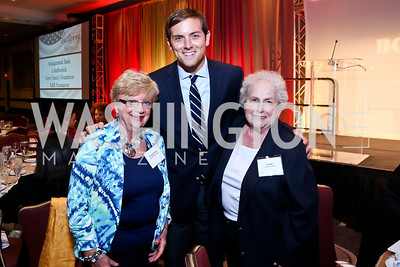 Margaret Mary Wagner, Luke Russert, Sister Lucille  Socciarelli. Photo by Tony Powell. 2014 Tim Russert Congressional Dinner. JW Marriott. May 22, 2014