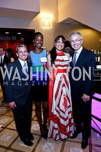 Matt McKinnis, Tameka Young, Kathy Dalby, Paul Smedberg. Photo by Tony Powell. 2014 Tim Russert Congressional Dinner. JW Marriott. May 22, 2014