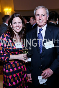Paige and Kevin Fromer. Photo by Tony Powell. 2014 Tim Russert Congressional Dinner. JW Marriott. May 22, 2014